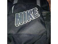 Nike backpack & Blue sports bag with wet bag