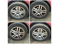 "Ford Fiesta 205-55-16"" Alloy Wheels and Tyres Set of Four"