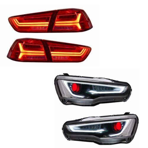 New Tail Lights & Evil Eye Led Headlights For 2008-2017 Mitsubishi Lancer Evo X for sale