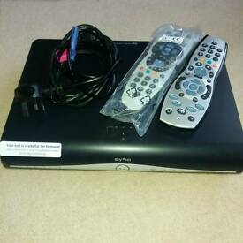 Sky HD box with 2 remotes