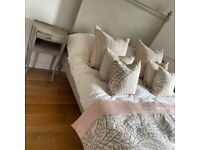 Grey Antique French Design DOUBLE Bed
