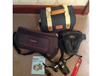 camera and bags