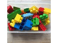 Approx 50 pieces of Duplo - box included
