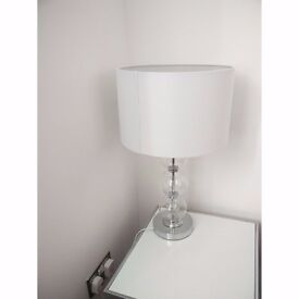 Searchlight White Chrome Lamp With Glass Balls