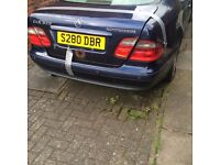 Mercedes CLK 320 2.3L Blue Automatic Coupe (Spare or Repair)
