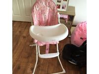 Pink Baby high chair