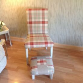 Up cycled chair and footstool