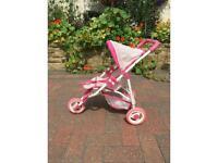 Dolls 3 wheeler pushchair