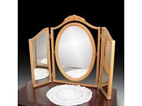 Three panel dressing mirror