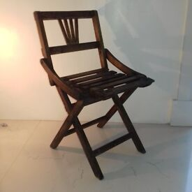 1950 Classic Czech Wooden Folding Child Chair