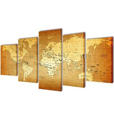 Modern Canvas Home Wall Decor Art Painting Picture Print Framed World Map 39""