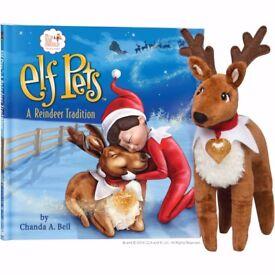Elf Pets Elf on The Shelf Softback Reindeer Book with Soft Toy Reindeer