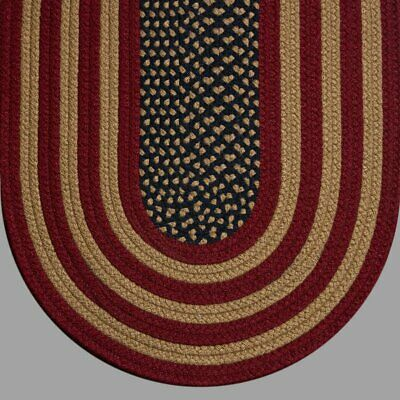 American Braided Rugs (ANTIQUE AMERICAN FLAG COUNTRY BRAIDED AREA RUGS By COLONIAL RUG-MANY)