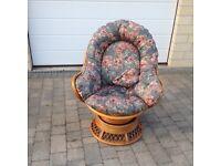 Cane Swivel Chair