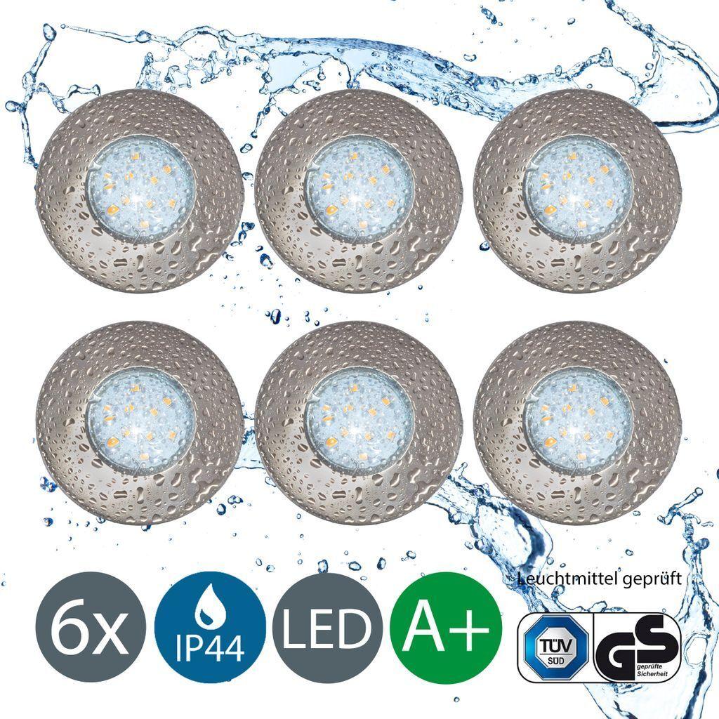 Einbaustrahler Einbauspots LED Bad IP44 Einbaulampe Leuchte Decke 230V 3-6er Set