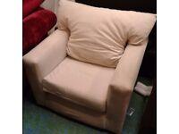 Cream Fabric Armchair