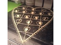 Metal heart wall hanging frame