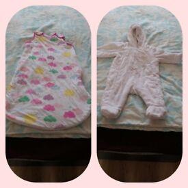 Mothercare baby sleeping bag and coat