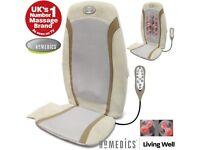 HoMedics Luxury Gel Shiatsu Heat Back Relaxing Massage Chair Seat Cushion with T