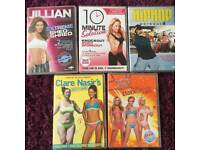Workout DVDs x5