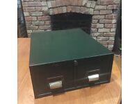 Retro desk top filing cabinet