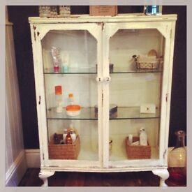 Beautiful shabby chic glass cabinet