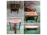 Various occasional tables / side tables