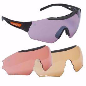 Beretta Puull Safety Shooting Glasses Eye Protection 3 Lenses Range Field OC021A