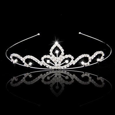 Wedding Party Bridal Tiara Children Crown Headband ear Rhinestone B4M7 J4N2
