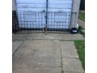 driveway gates with 1 post light weight mild steel