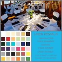 Wedding linens available for RENT