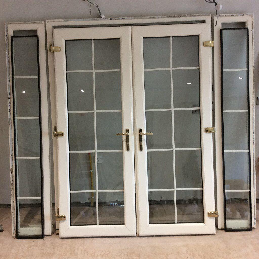 Georgian Cream PVC Patio Doors with sidelights