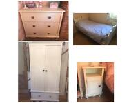 Aspace Bedroom Furniture Set - matching Wardrobe, chest of draws, bedside unit and shelf unit