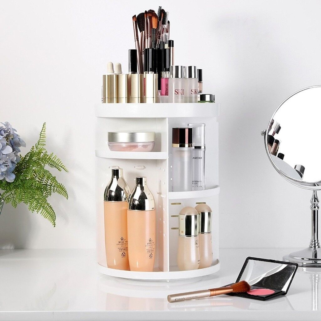 Charmant Cosmetic Holder Makeup Organizer With Adjustable Shelves *BRAND NEW SEALED  IN BOX*