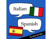 Spanish / Italian language tuition