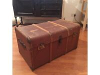 Sleeper trunk upcycle project coffee table