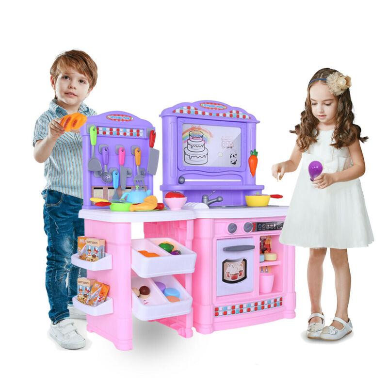 Children's Simulation Kitchen Playset For Girls & Boys Cooki