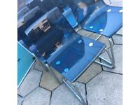 IKEA BLUE GHOST CHAIRSX6