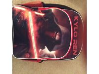 Kylo Ren Star Wars back pack with lights, new without tags