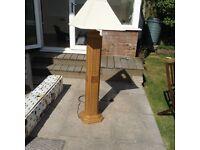 raffia effect floor standing lamp & shade