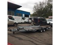 Tilt bed transporter recovery trailer Woodford make new tyres winch