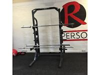 Body max squat rack with weights and bars