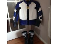 Childs leather motorbike jacket and boots