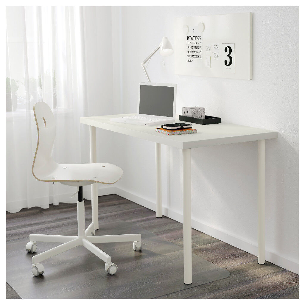 Sold Pending Collection White Office Desk Ikea Linnmon Adils 120cm X 60cm Table