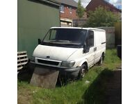 Transit Mk 6 Tipper Chassis Cab as spares with tipp. pump complete
