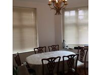 6 Seater Dark Wood Dining Table And Chairs From Loved Homed, Free Of Pets And Smoke Great Condition