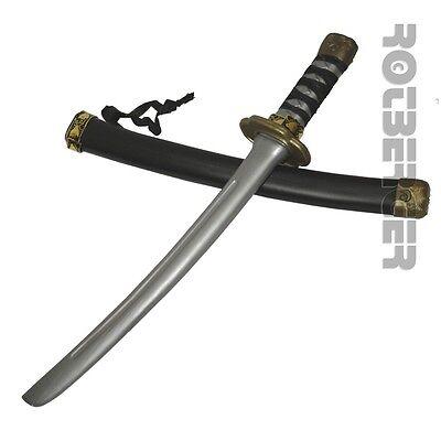 Samurai Schwert Zubehör (Ninja Samurai Schwert mit Scheide Katana 42 cm Waffe Kostüm Zubehör Karneval Wid)