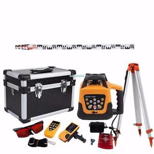 NEW AUTOMATIC ROTARY LASER LEVEL KIT RED LASER TRIPOD LLTRI