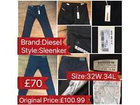 Men's Diesel Jeans (Black) 32W.34L