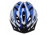 NEW HELMET (1674) LIGHTWEIGHT CYCLING HELMET, VISOR; ADULT/YOUTH BIKE/BICYCLE; SIZE: 57-62 cm